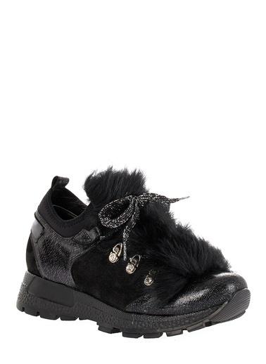 Pier Lucci Hakiki Deri Sneakers Siyah